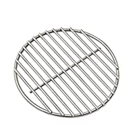 """10.25"""" BBQ High Heat Stainless Steel Charcoal Fire Grate Fits for Kamado Joe Classic Fire Grate and Other Big Green Egg Grill Parts Charcoal Grate Replacement Accessories (10 1/4"""")"""