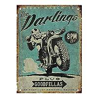 ダーリンズオートバイブリキサイン壁の装飾金属ポスターレトロプラーク警告サインオフィスカフェクラブバーの工芸品