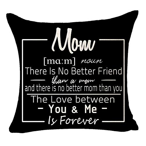 Best Gift From Aunt Mom Daughter Happy Mothers Day Mom There Is No Better Friend The Love Between You Me Is Forever Cotton Linen Throw Pillow Case Cushion Cover Home Sofa Decorative 18 X 18 Inch (C)