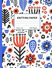 Knitting Paper: Graph (4:5 ratio) Notebook & Journals For Patterns : Nordic Folk Art Edition