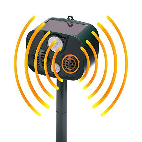 Bebliss ultrasoon alarmapparaat, voor kamperen, buiten, met bewegingssensor en led-knipperlicht, 14 x 9 x 43,1 cm