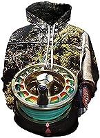 プリントパーカー、ユニセックスファッション3Dデジタルパーカースウェットシャツアスレチックカジュアリティカジュアルポケット男性と女性カップル (Color : 4, Size : XL)
