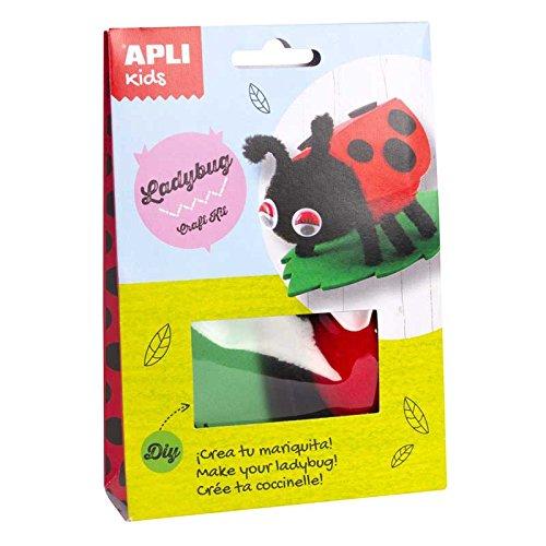 APLI agipä–14622–Packs Kit mit Stickermaschine Marienkäfer -