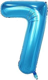 Tellpet Blue Number 7 Balloon, 40 Inch