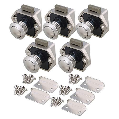 RDEXP 5PCS Keyless Locks Riegelknopfschrank für RV-Schubladenschrank