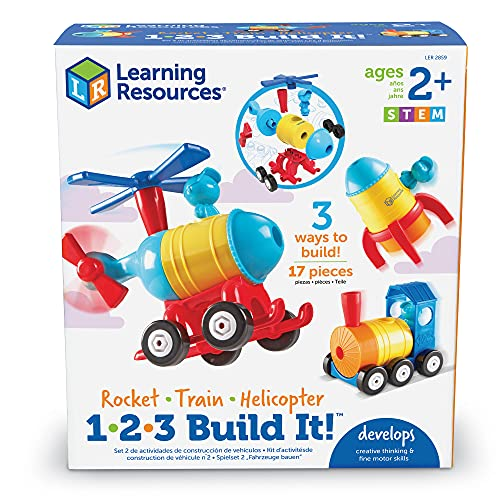 Rocket-Train-Helicopter Building Toy