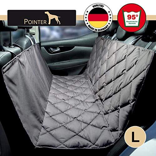 Pointer Autohundedecke, robuste Hundedecke für Auto Rücksitzbank, Autoschondecke Gr. L waschbar für alle Fahrzeug Typen