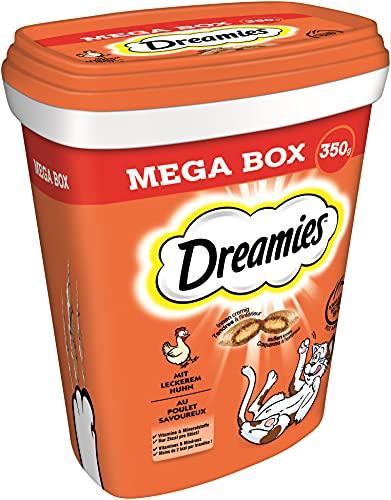 Dreamies Mix Katzensnacks mit Huhn-Geschmack – Außen knusprig & innen cremig – 2 x 350g
