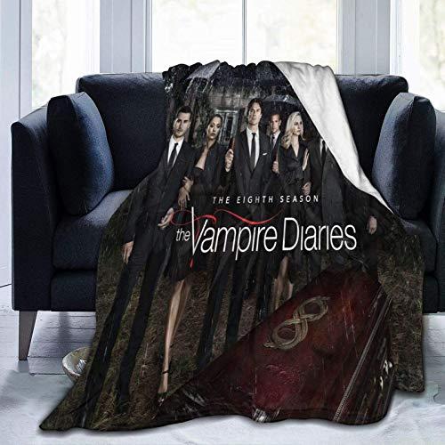 shenguang Vampire Diaries Jeter Des couvertures Impression 3D Couverture en Micro-Polaire Ultra douce, couverture de canapé de Luxe en molleton de Peluche hypoallergénique léger pour la Mais