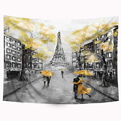 Yellow Grey Tapestry