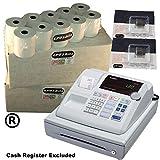 eposbits marca 40rollos + 2x de tinta para Casio 130CR 130CR caja registradora