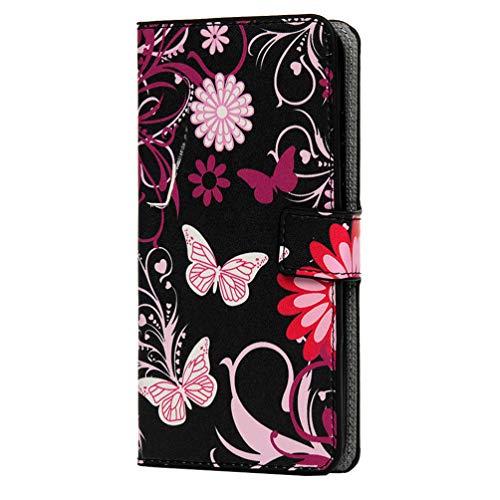Funda para Samsung Galaxy A12 de piel sintética a prueba de golpes con tapa para tarjetas, funda protectora con carcasa de TPU suave para Samsung Galaxy A12, color negro