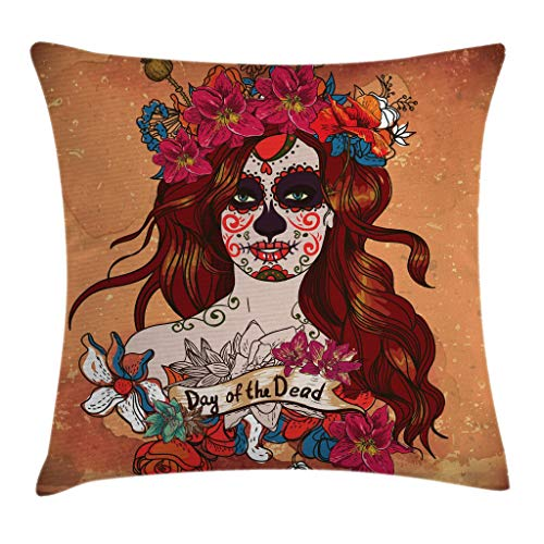 Ambesonne Day of The Dead Throw Pillow Cushion Cover