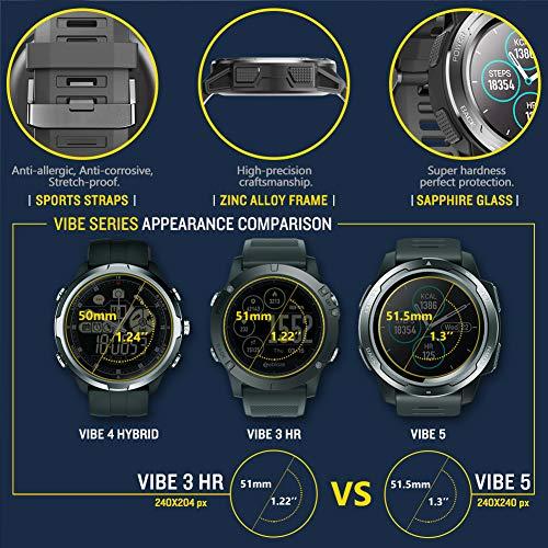 Zeblaze Vibe 5 Smartwatch, 1.3 Pulgadas de Reloj Inteligente ...