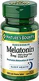 Nature's Bounty Melatonin Tablets, 3 mg, 120 Count