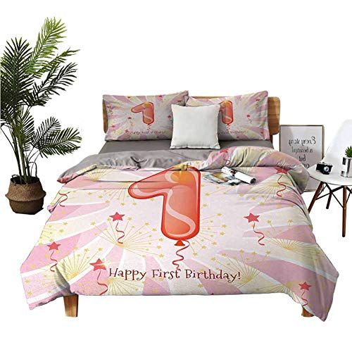 Cheapest Prices! Crib Sheets 1st Birthday Christmas Toddler Bed Sheets Festive Celebration for a New...