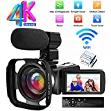 Videocamara Camara Video 4K Ultra HD Videocámara Full HD WiF Videocamara de...