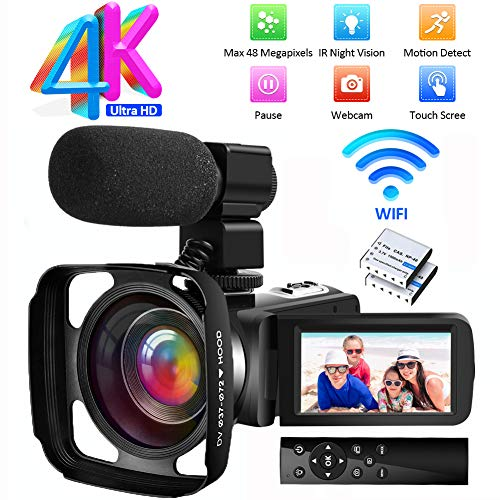 Videocamara Camara Video 4K Ultra HD Videocámara Full HD WiF Videocamara...