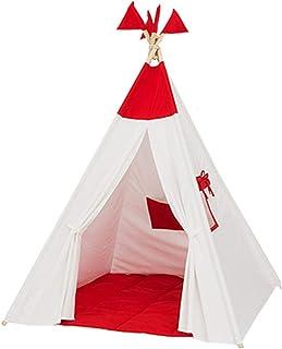 Tiendas de campaña Juguetes para Niños Rincón De Lectura Habitación para Niños Casa De Juguete Plegable De Color Rojo Casa De Gran Tamaño Sala De Juegos Interior Exterior Tienda para Niños 110 Cm