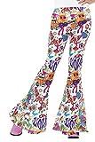 Smiffys-45174S Pantalones acampanados buena onda años 60, para mujer, Multicolor, S - EU Tamaño 36-38 (Smiffy's 45174S , color/modelo surtido