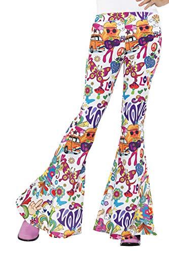 Smiffys Pantalones acampanados buena onda años 60, para mujer, multicolor