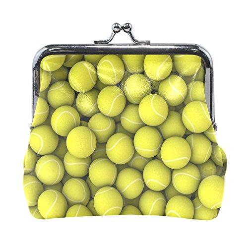 Tennis Ball Patterns Brieftaschen Mini Geldbörse für Damen Mädchen Damen