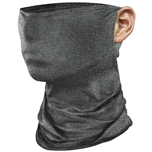 COOFINE Multifunktionstuch Schlauchschal Halstuch Eisseide Atmungsaktive Hochelastische Gesichtsmaske mit Ohrschlaufe für Motorrad Laufen Wandern