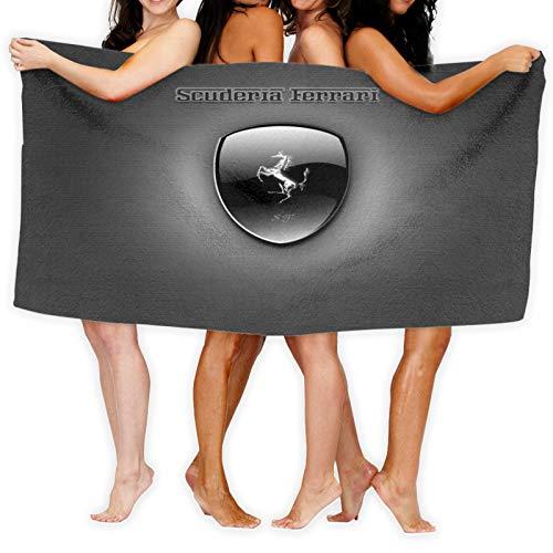 Ferrari - Juego de toallas de baño de algodón egipcio de alta calidad y ultra absorbentes, secado rápido y tacto súper suave, adecuado para el hogar, hoteles y spa, 80 x 130 cm