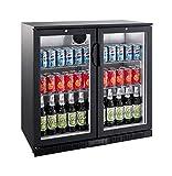 Flaschenkühlschrank 208 Liter Getränkekühlschrank Barkühlschrank Gewerbe Kühlschrank Gastronomie