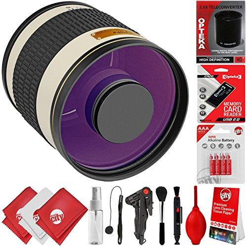 Opteka 500mm f/6.3 (w/ 2X Converter 1000mm) Telephoto Mirror Wild Life Lens for Canon EOS 80D, 77D, 70D, 60D, 7D, 6D, 5D, 7D Mark II, T7i, T6s, T6i, T6, T5i, T5, SL1 & SL2 Digital SLR Cameras -  Circuit City, circuitcity118995