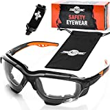 ToolFreak Spoggles Gafas de Seguridad para Trabajo y Deporte, Lentes Transparentes...