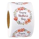 RUSPEPA Adesivi Regalo per La Festa della Mamma - Design Floreale Dolce per La Confezione Regalo per La Festa della Mamma - 5 X 5 cm - Totale 500 Etichette