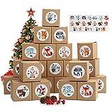 Herefun 24 Cajas de Regalo Navidad, Calendario de Adviento,