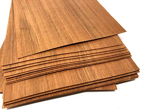 1qm Holzfurniere = 17-28 Echtholz Platten, Holz Set geeignet als Bastelholz, Heimwerken, Modelbau, Deko, DIY, Ausbesserungsarbeiten, Fotografie, Geschenk, Restauration, Schmuck (Laos)