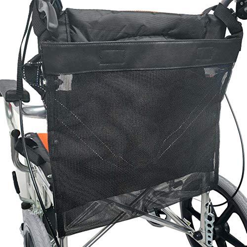 Rolstoeltas - Waterdichte rolstoeltassen om op te hangen Mesh Net Storage Organizers voor thuis/buiten/auto, Travel Messenger-rugzak voor heren, dames, handicap, ouderen,Black