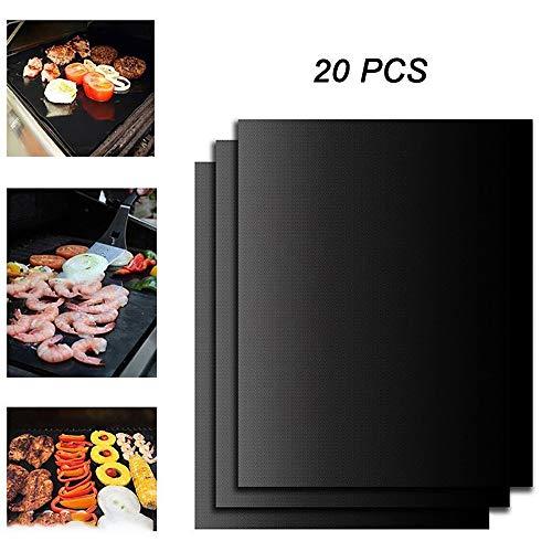 CNRGHS grill, teflon met antiaanbaklaag, hoge temperatuur, glasvezel voor grill, bakken, gereedschap, kan worden gebruikt voor houtskool.