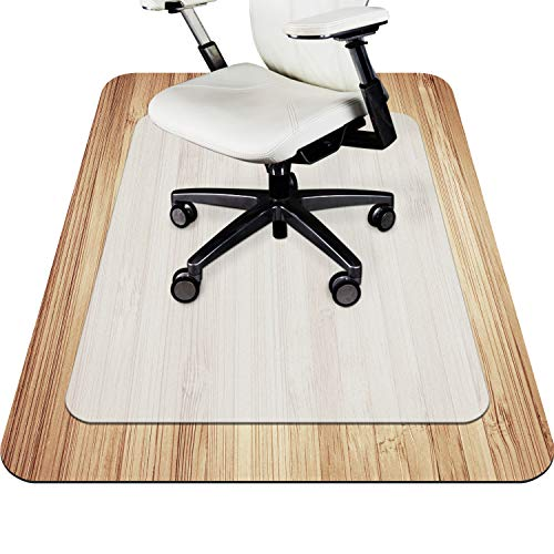 VPCOK Office Chair Mat for Carpet/Hardwood Floor, Office Essential Chairmat, Protector for Office Desk Chair Mats for Carpeted Floors, Unique Texture Design, Perfect Non-Slip Effect