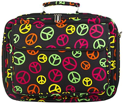 Multi-color Peace Sign 17 Inch Computer Laptop Case Bag