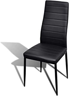 Dining Chairs With Slim Line (2 Pcs) - Black