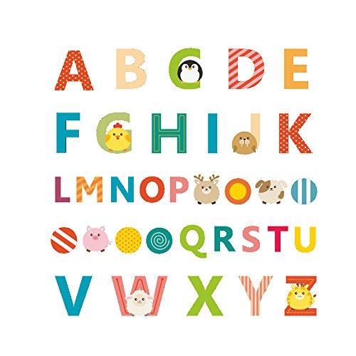 Winhappyhome Alphabet Enfants ÉDucation PréCoce Autocollants Muraux pour Enfants pour Enfants DéCorations Amovibles DéCoratives DéCoratives pour Enfants
