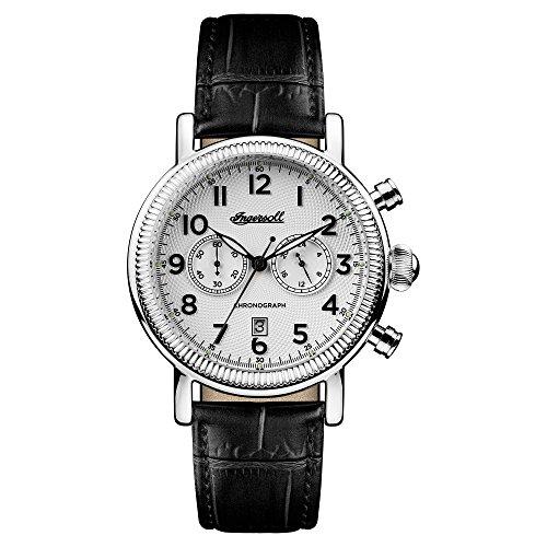 Ingersoll Herren Chronograph Quarz Uhr mit Leder Armband I01002