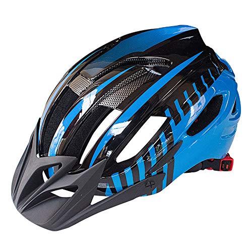 FAGavin Casco de seguridad para bicicleta de montaña, casco de moldeo integrado, equipo de equitación universal (color: azul)