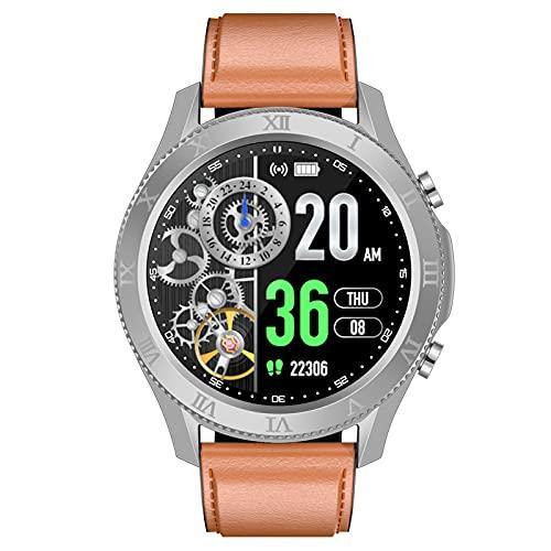 BNMY Relojes Inteligentes Llamada Bluetooth, Smartwatch IP68 para Mujer Hombre, Reloj Deportivo con Monitor De Sueño Pulsómetro Notifica Whatsapp, Pulsera Inteligente para Android iOS,Negro