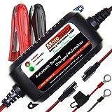 MOTOPOWER MP00206A 12V 1.5Amp Caricabatterie/Mantenitore Completamente Automatico per Auto, Moto, ATV, Camper, Powersports, Barche e Altro. Intelligente, Compatto ed Ecologico