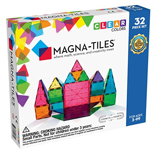 Magna Tiles 32 Piece Clear Colors Set