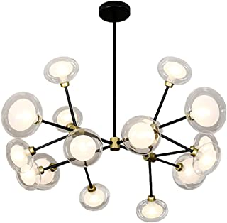 G9 Nordic Light Luxury Creative Bubble Glass Ball Chandelier Lighting,Tree Branches Molecules During Lighting,Hanging Ligh...