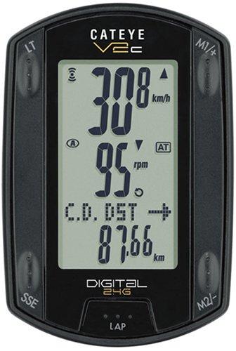Cateye V2C Compteur de vélo sans fil Tr200 Noir