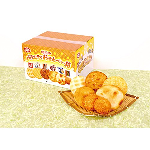 亀田のバラエティおせんべい箱