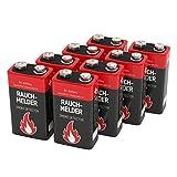 8 ANSMANN Alkaline longlife Rauchmelder 9V Block Batterien - Premium Qualität für höhere Leistung, 9V Batterie ideal für Feuermelder, Bewegungsmelder, Alarmanlagen & Kohlenmonoxid Warnmelder