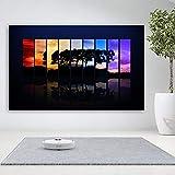 Geiqianjiumai Poster Wall Art Spectrum Spectrum Abstract Colorful Tree Forest Imagen de la Pared Sala de Estar Inicio Impresión de la Lona Pintura sin Marco 60X90cm